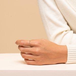 Mejuri Jewelry - Mejuri Diamonds Open Ring 14k Yellow Gold Size 8